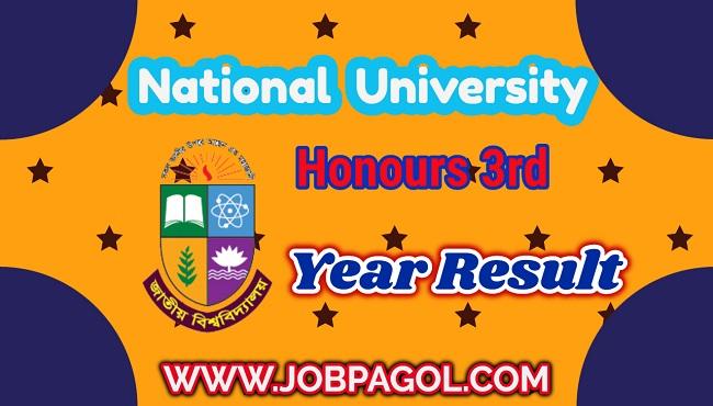 NU Honours 3rd Year Result 2019